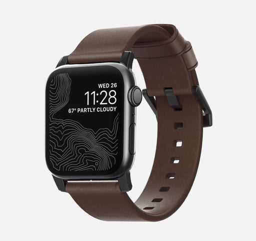 Modern Leather Apple Watch Strap