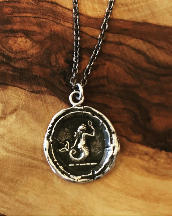 """Mermaid"" Silver Talisman"