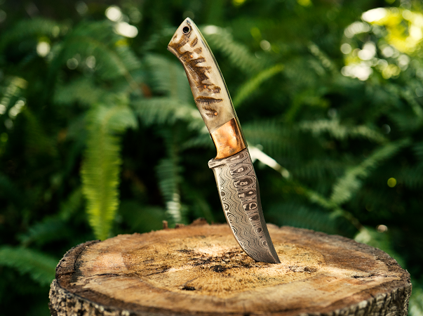 rams horn hunting knife