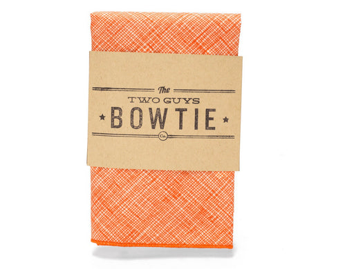 Pocket Square- Orange Crosshatch