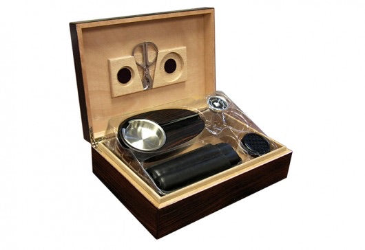 cigar desktop humidor set
