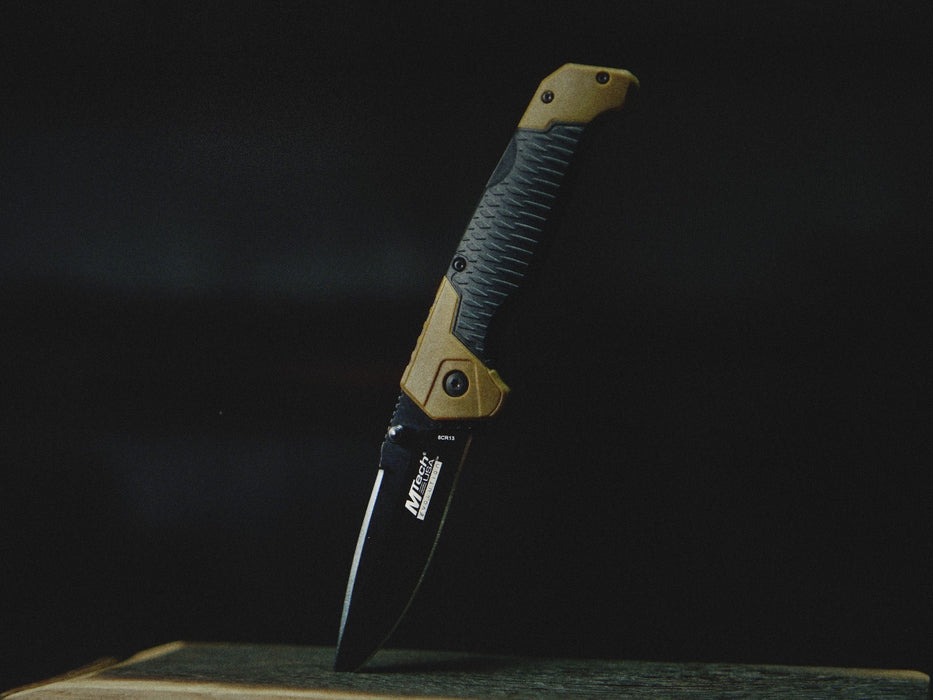 Black And Tan Lockback Pocket Knife