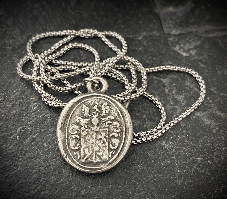 Ancient Wax Seal Pendant And Necklace