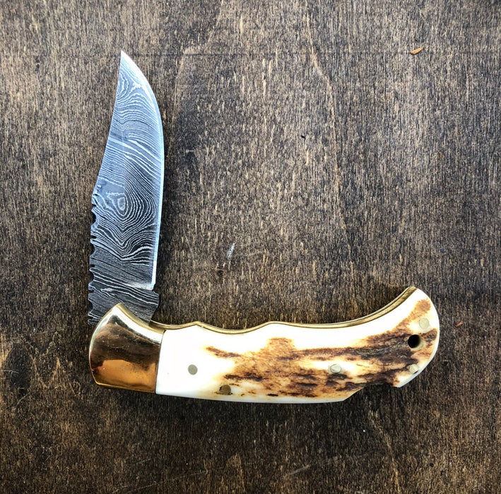 Deer Antler Pocket Knife- VG 33