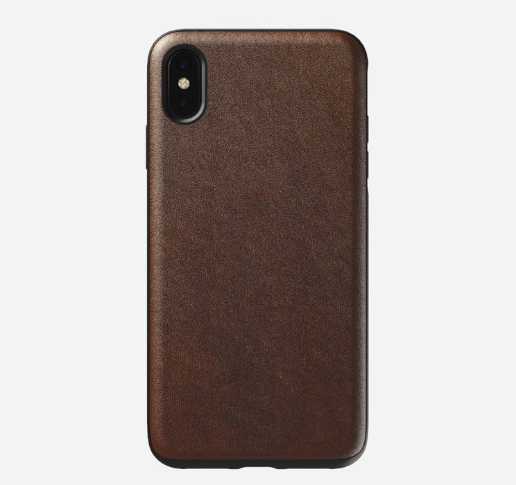 Rugged iPhone XS Max Leather Case