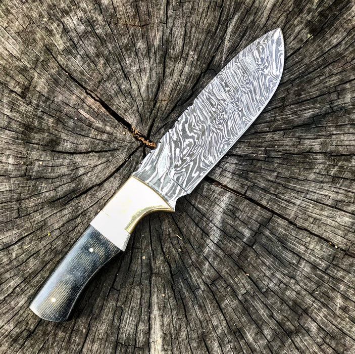 Fixed Blade Damascus Knife- VG40
