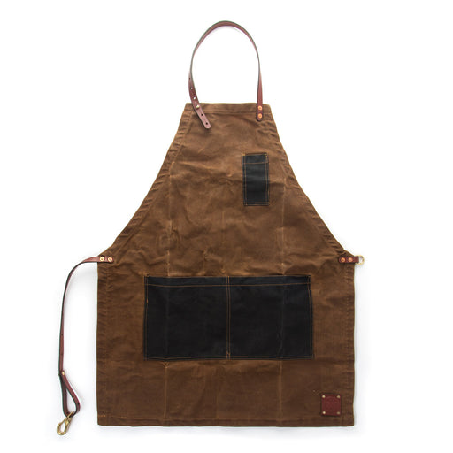 Waxed Canvas and Leather Apron Work Apron