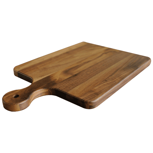 Virginia Boys Kitchens Cutting Board 10 x 16 Walnut Cutting Board with Knob Handle