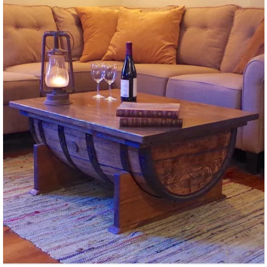 Marvelous Whiskey Barrel Coffee Table  River Drive   Free Shipping!