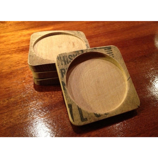 Whiskey Barrel Coasters