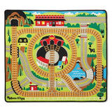 Melissa and Doug Round the Rails Train Rug | Bumble Tree