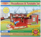 Melissa and Doug Roundhouse and Turntable Train Set | Bumble Tree