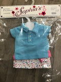 "Sophia's 18"" Doll Clothes Polo & Skirt Set 