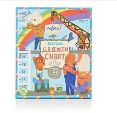 eeboo Keepsake Growth Chart Construction Site | Bumble Tree