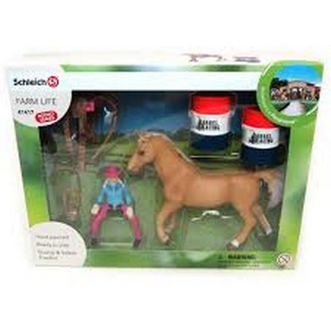 Schleich Barrel Racing With Cowgirl (41417)