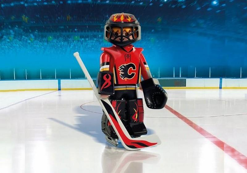 Playmobil NHL Calgary Flames Goalie (9024) | Bumble Tree