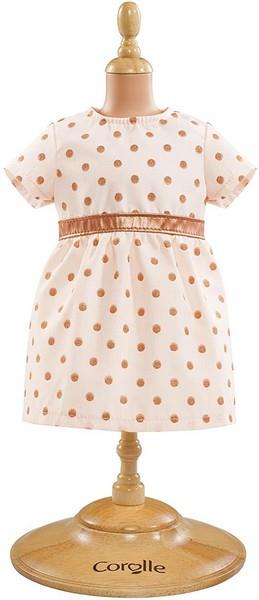 "Corolle 14"" Doll Fashions Rose Gold Dress 
