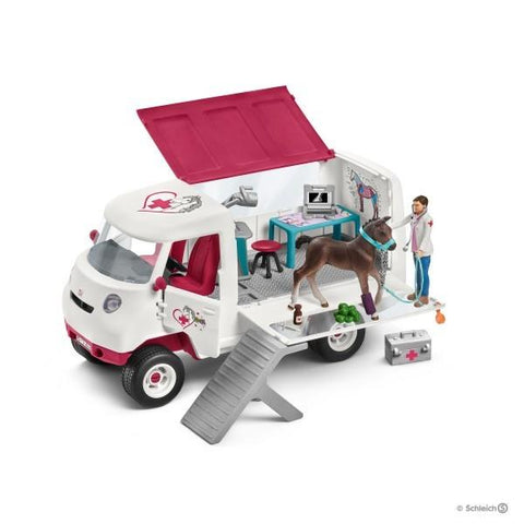 Schleich Mobile Vet with Hanoverian Foal (42370)