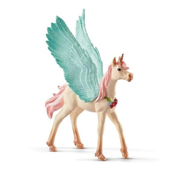 Schleich Decorated Unicorn Pegasus Foal (70575) | Bumble Tree