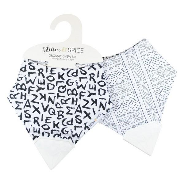 Glitter and Spice Organic Chew Bibs Double Sided