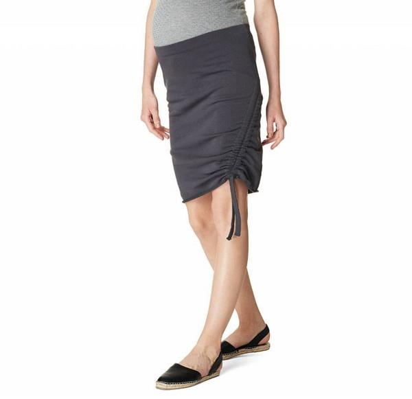 Noppies Maternity Ruched Skirt Ashley Grey | Bumble Tree
