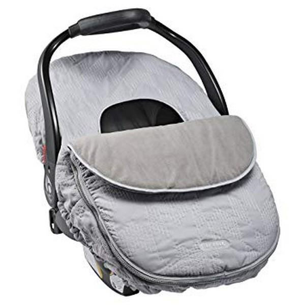 JJ Cole Car Seat Cover Grey Herringbone | Bumble Tree