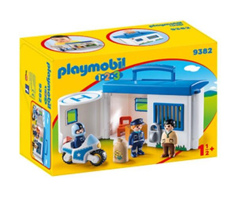 Playmobil 1.2.3. Take Along Police Station (9382)