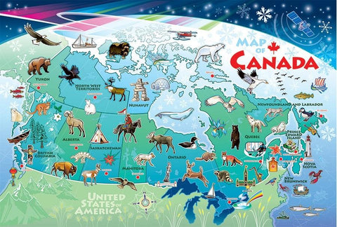 Cobble Hill Tray Puzzle Map of Canada