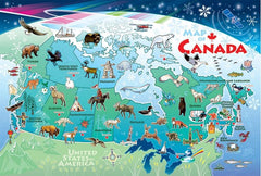 Cobble Hill Tray Puzzle Map of Canada | Bumble Tree