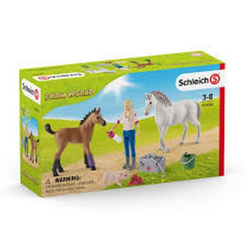 Schleich Vet Visiting Mare and Foal (42486)