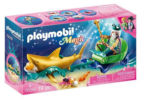 Playmobil King of the Sea with Shark Carriage (70097)