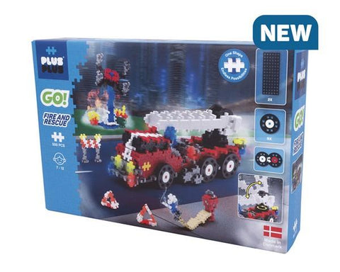 Plus Plus Go! Fire and Rescue 500 pcs