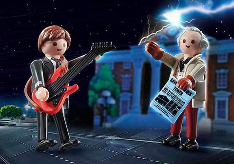 Playmobil Back To The Future Marty McFly And Dr Emmett Brown (70459)