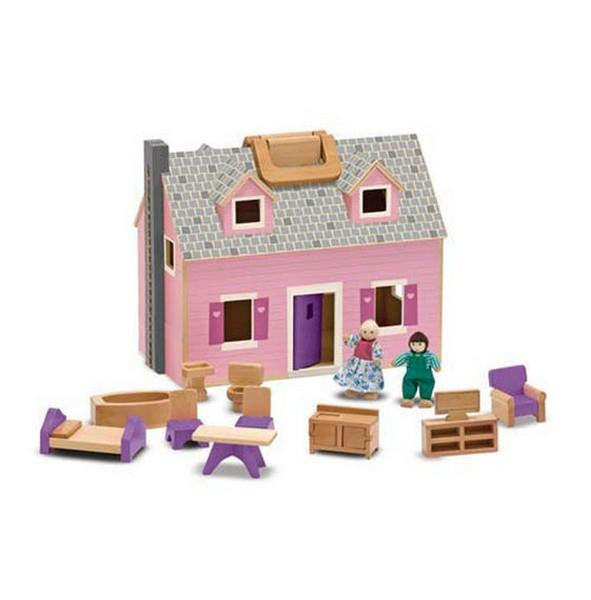 Melissa and Doug Fold and Go Dollhouse | Bumble Tree