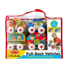 Melissa and Doug Pull Back Town Vehicles | Bumble Tree