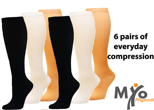 Profession Integrated Compression Socks - 6 Pairs