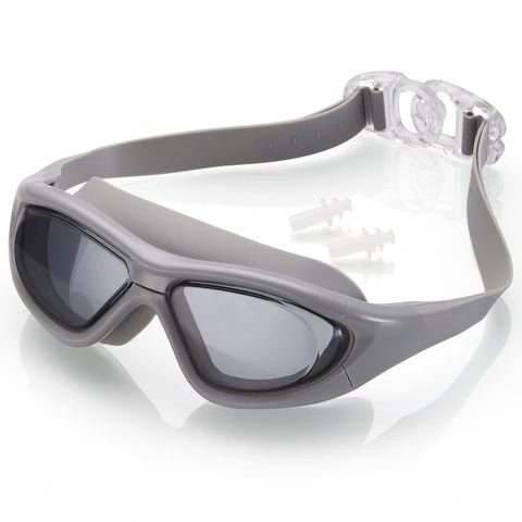 ELEMENTEX Naga Sports Series Diver Swimming Goggles - Anti Fog Anti Shatter Leakproof Waterproof with UV Protection for Men Women Children Adults - Gray