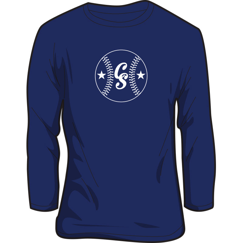 Youth Long-Sleeve CS Baseball Logo