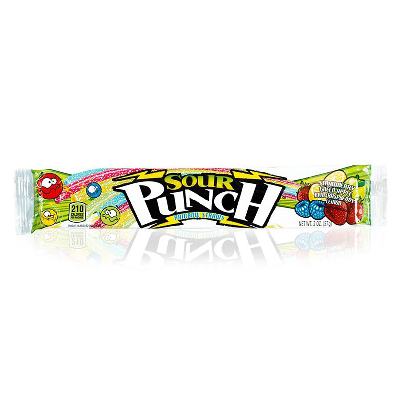 Candy - Sour Punch Rainbow Straws