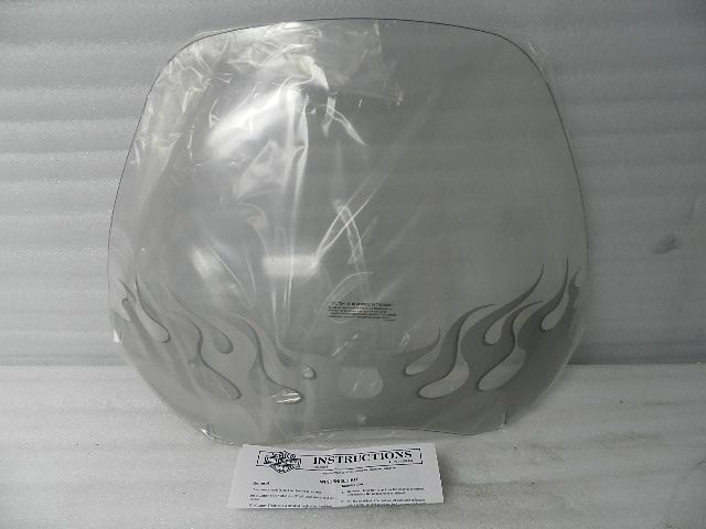 NOS NEW 2004 AND NEWER HARLEY FLTR/X/U ROADGLIDE FLAMED WINDSHIELD 57777-04