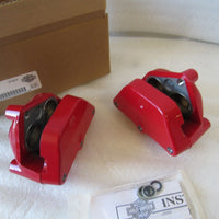 NEW OEM NOS 2000-2007 HARLEY RED FRONT DUAL DISC BRAKE CALIPERS 41300120