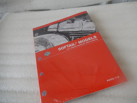 NEW NOS OEM 2011 HARLEY SOFTAIL PARTS MANUAL 99455-11a
