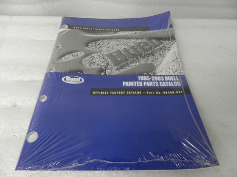 NOS ORIGINAL 1995-2003 BUELL PAINTED PARTS CATALOG 99489-03Y