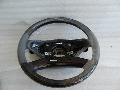 NOS NEW MERCEDES S-CLASS STEERING WHEEL LEATHER WOOD A22146092037G44