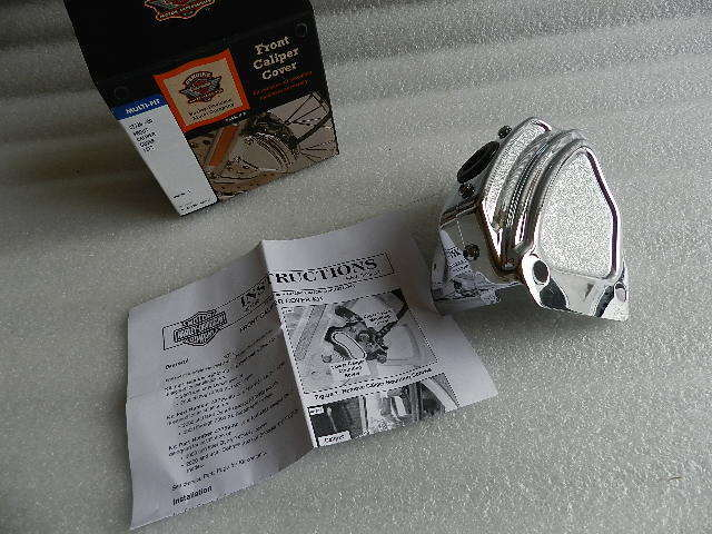 NOS OEM NEW HARLEY SPORTSTER DYNA LEFT BRAKE CALIPER COVER 43726-00