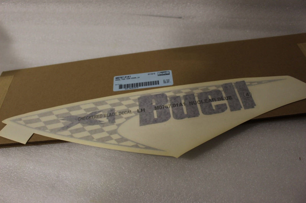 NEW OEM NOS BUELL X1 FUEL TANK COVER DECAL LEFT M0767.01A1