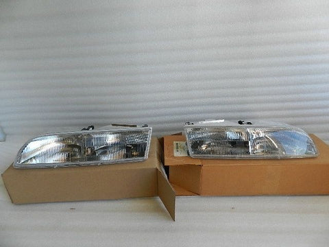 NOS NEW ORIGINAL 1992-1997 FORD CROWN VICTORIA HEADLIGHTS PAIR LEFT/RIGHT