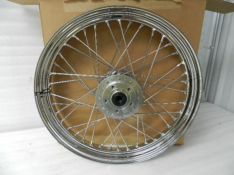"NOS NEW OEM HARLEY SPORTSTER DYNA 19"" LACED SPOKE FRONT WHEEL 43321-79A"