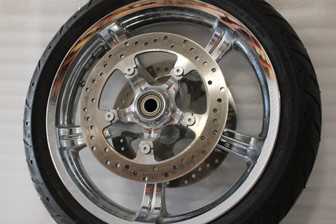 OEM NTO 2009-2018 HARLEY TOURING ANARCHY MIRROR CHROME FRONT WHEEL