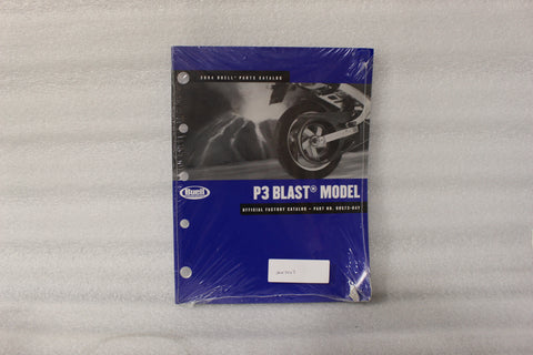 NEW NOS OEM 2004 BUELL  P3 BLAST MODEL OFFICIAL FACTORY CATALOG 99573-04Y